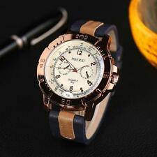 Men Sport Stainless Steel Watches Analog Quartz Leather Wrist Dress Watch B1