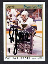 Pat Jablonski #29 signed autograph auto 1992 O-Pee-Chee Premier Hockey Card