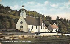 Old Church of Bonne St. Anne, Québec, Canada ca 1910s Vintage Postcard