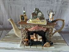 Cardew farmhouse fireplace teapot large Titan woodmanton