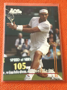 2011 Ace Authentic Tennis RAFAEL NADAL Spain Card #81