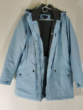 Lands End Womens THERMACHECK WINDCHECK Coat Size M 10-12 Never Worn Powder Blue