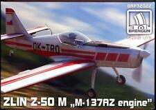 Brengun Models 1/72 ZLIN Z-50M with M-137AZ Engine Czech Sport Plane