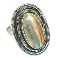 Large Labradorite 925 Sterling Silver Ring Size 7.75 Ana Co Jewelry R55418