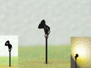 LED Flood Light Spotlight H0 Tt With Mast Structure Facade 5 Piece S386