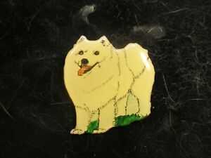 Vintage Hand Made and Hand Painted Samoyed Pin