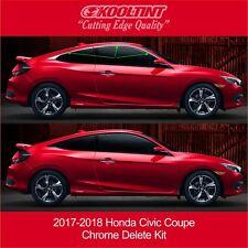 2017-2018 Honda Civic Coupe Chrome Delete Kit