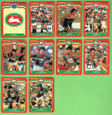 #D496.   1986  SOUTH SYDNEY RABBITOHS  SCANLENS  RUGBY LEAGUE CARDS