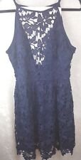 Love...Ady L Navy Blue Lace Dress Sleeveless Lined*NWT*Nordstrom