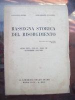 1935 RASSEGNA STORICA DEL RISORGIMENTO CORSICA GENERALE FABRIZI TOSCANA NEL 1831