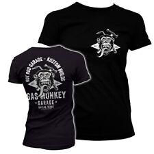 Officially Licensed Gas Monkey Garage Torch & Hammer Women's T-Shirt S-XXL Sizes