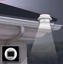3LED Outdoor White SOLAR POWER Garden Fence Gutter W/O battery Yard Sensor Light