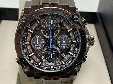 NEW Bulova 98B229 Precisionist Men's 46mm Gray Black Dial Chronograph Watch