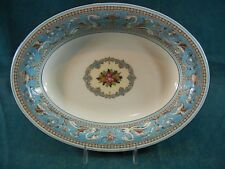"Wedgwood Florentine Turquoise Fruit Center W2714 Oval 9 7/8"" Vegetable Bowl"