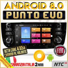 AUTORADIO Android 8.0 Octa-Core 4 / 32GB FIAT PUNTO EVO MP3 Navigatore GPS MA...
