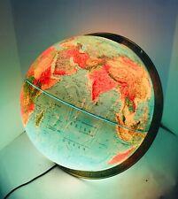 "Beautiful 1970's Replogle 16"" World Horizon Series Replacement lighted Globe"