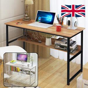Home Furniture Office PC Computer Desk Writing Table Wood Bookshelf Workstation