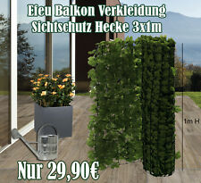 Efeu Balkonverkleidung / Sichtschutz / Kunsthecke