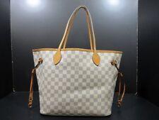 Auth LOUIS VUITTON Damier Azur Neverfull MM N51107 Tote Bag PVC Leather 56564