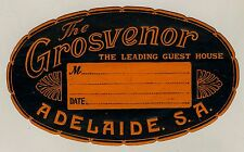 The Grosvenor Hotel ADELAIDE SA Australia * Old Luggage Label Kofferaufkleber