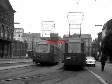 PHOTO  BELGIUM TRAMS 1959 CHARLEROI EDEN SNCV BRAINE-LE-COMPTE TRAM  NO 10382 ON