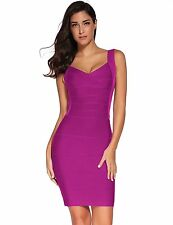 Meilun Women's Various Backless Stripe Rayon Evening Party Bandage Bodycon Dress