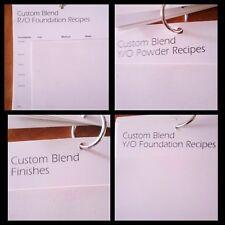 Prescriptive Recipes for Foundation, Powder, Finishes, Corrections,  Bronzer
