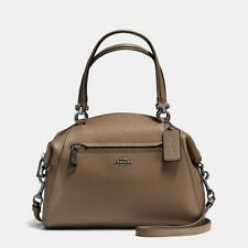 NWT Coach 58874 Prairie Satchel in Polished Pebble Leather, Fatigue $295.00