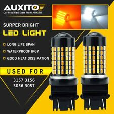 AUXITO 2X 3157 3156 3457 WHITE AMBER SWITCHBACK TURN SIGNAL LIGHT LED FOR Toyota