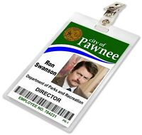 Ron Swanson, Parks And Recreation / Rec, Pawnee ID Badge Name Tag Card Prop