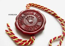 ROLEX VINTAGE ALL RED WAX TAG *1950* FOR 6542 6541 6536 6538 5508 6200 6611 1803
