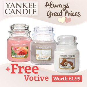 Yankee Candle Medium Jar New Fragrances - Gift idea - Mum Sister Free Votive