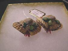 Vintage Unique Shell Screw-On Earrings