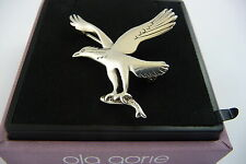 Scottish 1970s George M Smith Shetland Silver Osprey Fish Brooch Pin Bird