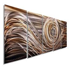 Statements2000 Metal Wall Art Panels Brown Gold Painting Modern Decor Jon Allen