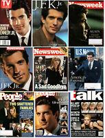 George Magazine Founder John JFK Kennedy Jr Lot Of 9 Magazines VG NM TRIBUTES
