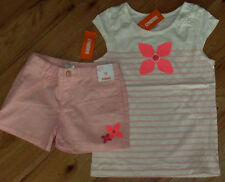 Gymboree Ice Cream Parlor pink sequin flower top & pink shorts set Nwt 10