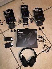 Lot Of 4 Skullcandy S6CRW-K591 Wireless Headphone Sesh Indy Earbuds Broken As Is
