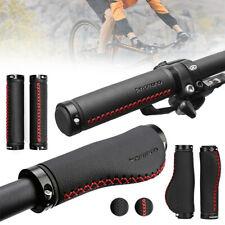 1 Pair Leather Bike Bar Grips Anti-Skid MTB Road Bicycle Cycling Handlebar Grip