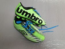 Boy's Girl's Unisex Pre-Owned UMBRO Soccer Cleats Green size 12K Youth