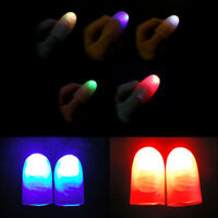 2Pcs Party Magic Light Up Glow Thumbs Fingers Trick Appearing Light Close Up JE