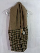 Look Collection Women's Brown Houndstooth Infinity Scarf One Size NWT