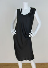 Kimberly Ovitz Sz S Charcoal Gray Slinky Polyester Gathered Draped Front Dress