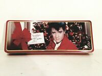 Elvis Presley HAPPY HOLIDAYS! 1997 Russell Stover Candy Collectible Metal Tin.