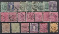 Natal QV Unchecked Collection Of 22 Values Fine Used  JK483