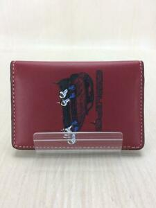 COACH  Leather Red Leather Red Fashion Card case 1063 From Japan