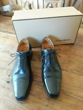 DERBY SHOES MAN Santoni black leather P.5 1/2 MAN Derby shoes shoes Santoni