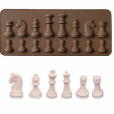 16 Cavity 3D Hard Silicone Chess Pieces Chocolate Plaster Sugarcraft Mould Cake