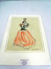 GUILBERT Yvette (1865-1944) CHANTEUSE/ ACTRICE FRSE - AQUARELLE DE BERTHOMME StA