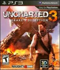 Uncharted: Drake's Deception 3 w/ Steelbook Case PS3 PLAYSTATION action game BOX